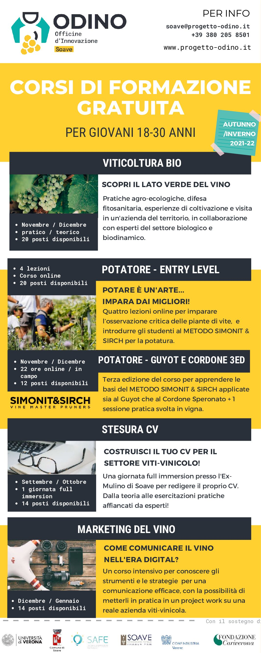ODINO-infografica corsi - Primavera 2021