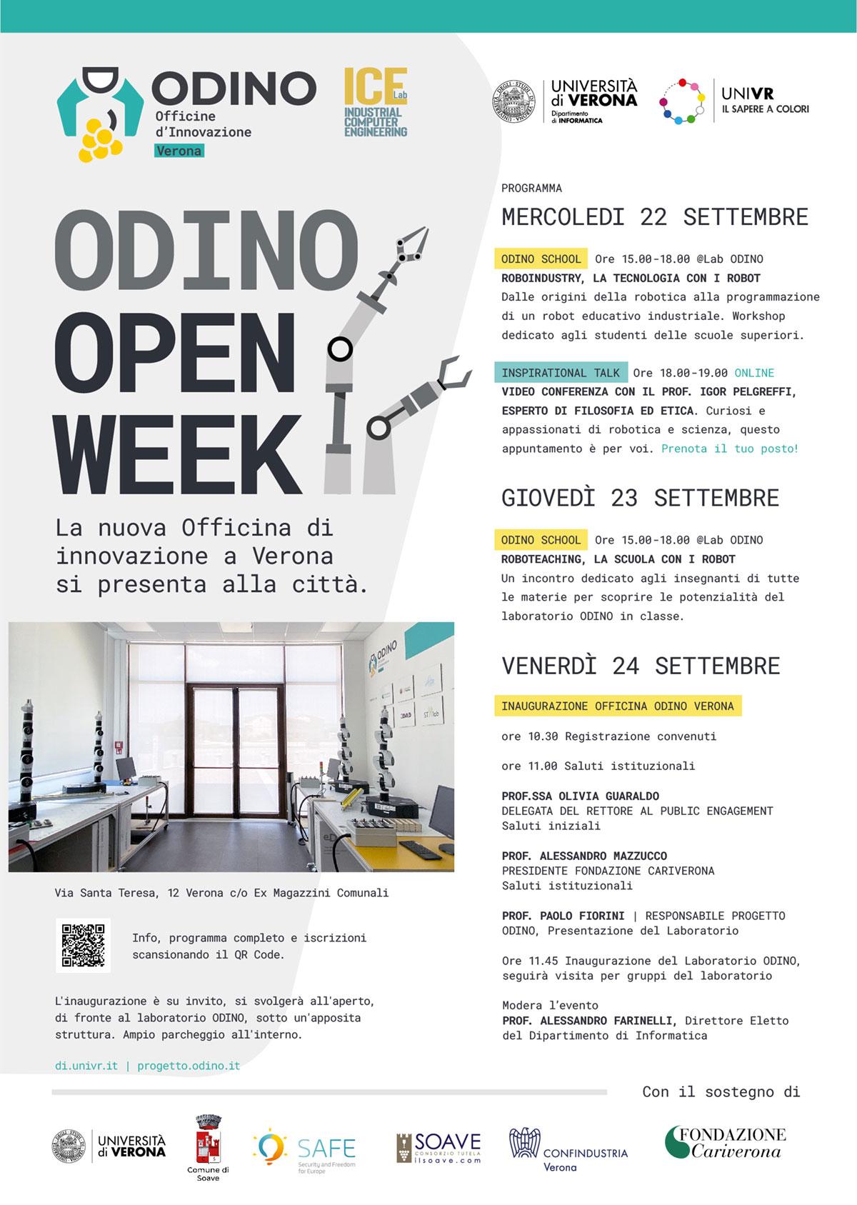Locandina inaugurazione Officina ODINO Verona